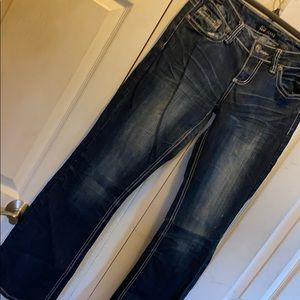 Boot leg awesome dark wash jeans